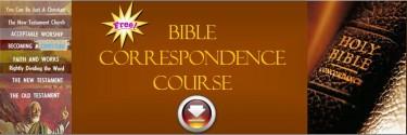 Bible Correspondence Course